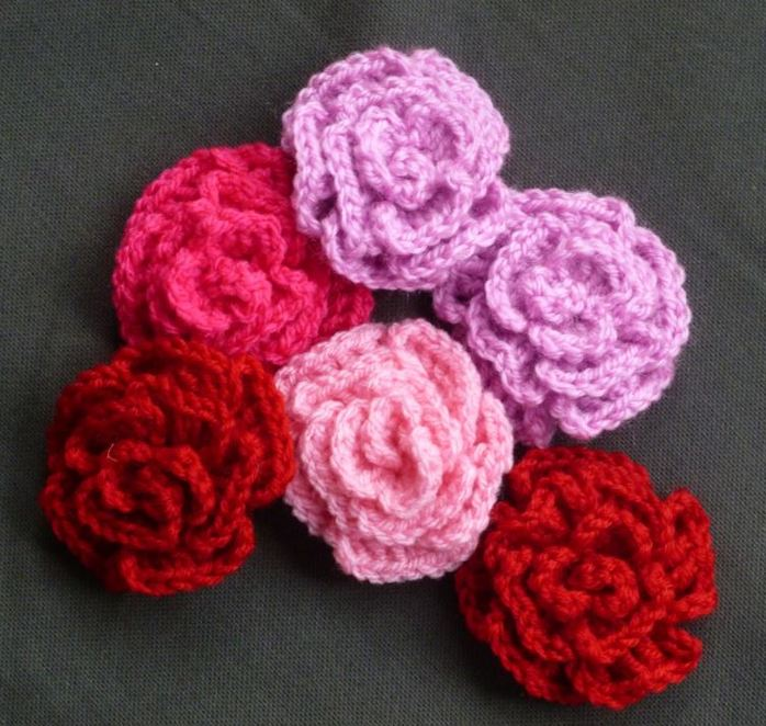 crochet rose flower bloom love romance decoration handmade craft